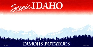 Idaho Blank License Plate Vinyl Cricut Pazzles