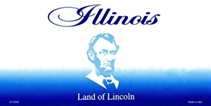 Illinois Blank License Plate Vinyl Cricut Pazzles
