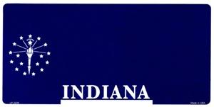 Indiana Blank License Plate Vinyl Cricut Pazzles