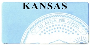 Kansas Blank License Plate Vinyl Cricut Pazzles