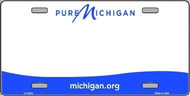 Michigan Blank License Plate