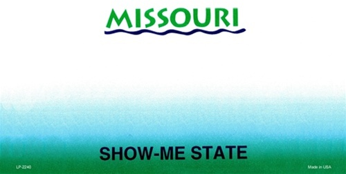 missouri blank license plate