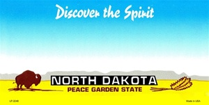 North Dakota Blank License Plate Vinyl Cricut Pazzles