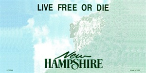 New Hampshire Blank License Plate Vinyl Cricut Pazzles