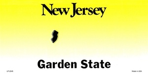 New Jersey Blank License Plate Vinyl Cricut Pazzles