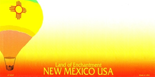 new mexico blank license plate