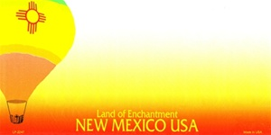 New Mexico Blank License Plate Vinyl Cricut Pazzles