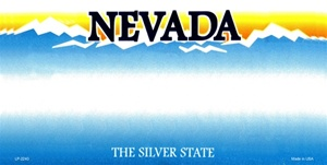 Nevada Blank License Plate Vinyl Cricut Pazzles