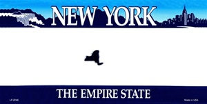 New York Blank License Plate Vinyl Cricut Pazzles