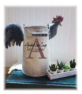 French Rooster Watering Can