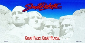 South Dakota Blank License Plate Vinyl Cricut Pazzles