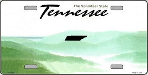Tennessee Blank License Plate Vinyl Cricut Pazzles