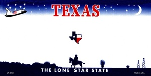 Texas Blank License Plate Vinyl Cricut Pazzles