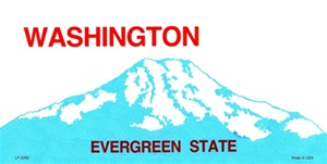 Washington Blank License Plate Vinyl Cricut Pazzles