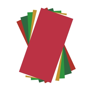 Holiday Colors Adhesive Vinyl Sheets Pack