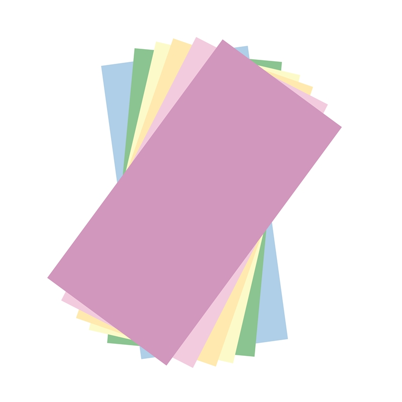 Pastel Colors Adhesive Vinyl Sheets Pack