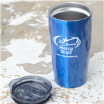 Mercy Ships 20-oz Metallic Blue Insulated Tumbler