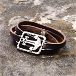 Leather Mercy Wrap Bracelet