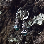 Anchor Cap Ocean Jasper Earrings