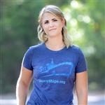 Heathered Navy Crew T-Shirt - Advocacy
