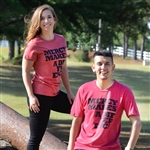 Heathered Red Crew T-Shirt - Mercy Makes a Difference, The Lame Walk