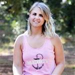 Coral Mini Stripe Gathered Tank Top - Mercy Anchor