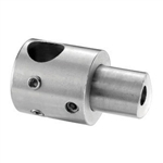 "Stainless Steel Bar Holder 1/2"" Dia. Hole for 1 1/"