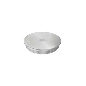 "Stainless Steel End Cap Flat for Tube 1 2/3"" Dia."
