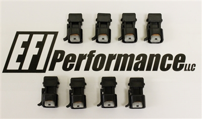 EV6 (LS3/LS7 style injector) to EV1 (LS1 / GenIII harness) adapter set