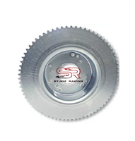 BRAKE DRUM, 4-1/2″ & #35 72 TOOTH SPROCKET, MACHINED ID, ZINC PLATED