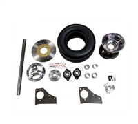 "1/"" go kart mini bike live axle kit includes bearing hangers and hub"