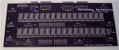 Data East DIS244 Alphanumeric display