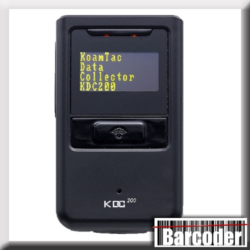 Koamtac KDC200iM Bluetooth 1D Class 2 laser hand-held scanner, 325150, for  iOS devices  Black and silver  Class 2 laser  HID  SPP  Bluetooth range to