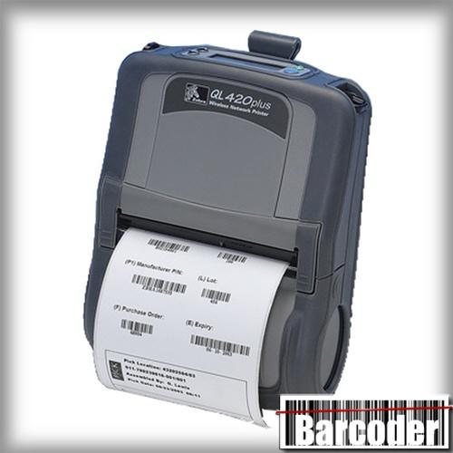 Zebra QL420 Plus mobile direct thermal receipt and label printer, 4