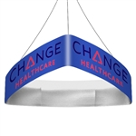 Trio Curved Blimp Triangle Hanging Sign - 10 ft x 36 in [Complete]
