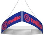 Trio Curved Blimp Triangle Hanging Sign - 12 ft x 36 in [Complete]