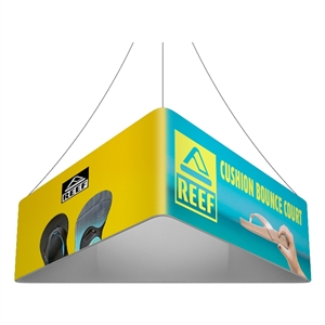 Trio Blimp Straight Triangle Hanging Sign - 08 ft x 24 in [Graphics Only]
