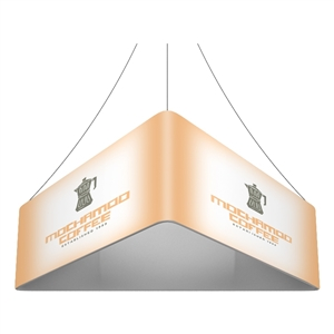 Trio Blimp Straight Triangle Hanging Sign - 08 ft x 42 in [Graphics Only]