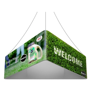 Trio Blimp Straight Triangle Hanging Sign - 10 ft x 48 in [Graphics Only]