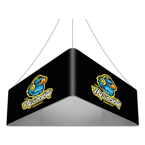 Trio Blimp Straight Triangle Hanging Sign - 12 ft x 48 in [Graphics Only]