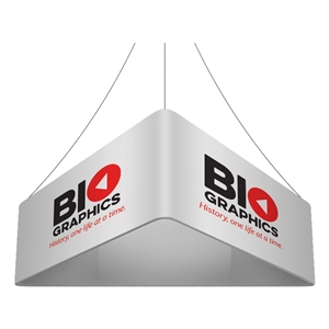 Trio Blimp Straight Triangle Hanging Sign - 15 ft x 42 in [Graphics Only]