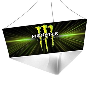 Trio Tapered Blimp Triangle Hanging Sign - 10 ft x 48 in [Graphics Only]