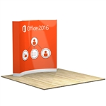 OneFabric 8 ft (3x3) Curved Pop Up Display [Complete]