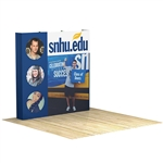 OneFabric 8 ft (3x3) Straight Pop Up Display [Complete]