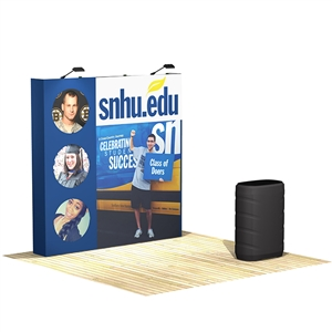OneFabric 8 ft (3x3) Straight Pop Up Display w. Counter [Kit]