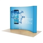 OneFabric 10 ft (4x3) Curved Pop Up Display [Graphics Only]