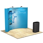 OneFabric 10 ft (4x3) Curved Pop Up Display w. Counter [Kit]