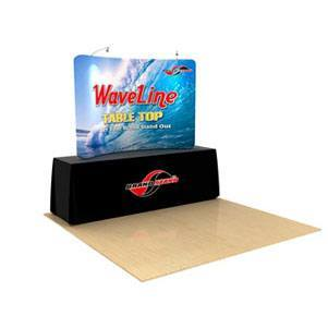 Waveline 8 ft Curved Table Top Tension Fabric Display [Graphics Only]