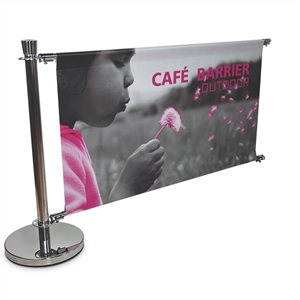 Cafe Barrier 5ft x 3ft Indoor-Outdoor Sign Extension [Complete]