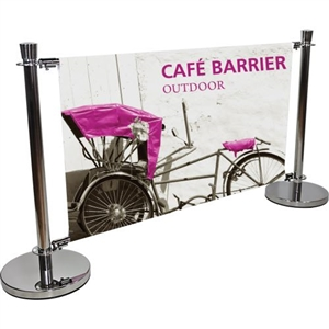 Cafe Barrier 5ft x 3ft Indoor-Outdoor Sign System [Graphics Only]